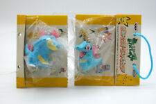 "Pokemon lot of 2 Totodile Feraligatr keychain figures toys 1"" Japan set"