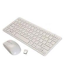 Technotech Mini Wireless Keyboard and Mouse Combo with Keyboard Cover (White)