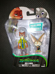 Disney Zootropolis Collectable Figures - Nick & Finnick - Tomy - New & Sealed
