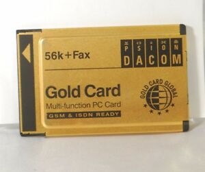 Psion Dacom Gold Card PCMCIA 56K+Fax PC Card S99-2318-2. Used.