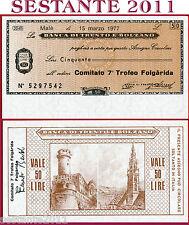 BANCA TRENTO E BOLZANO LIRE 50 15.3. 1977 COMITATO 7 TROFEO FOLGARIDA FDS B140