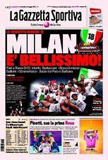 GAZZETTA DELLO SPORT MILAN CAMPIONE D'ITALIA 2010/11