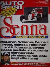 Autosprint 46 1993 Grande esclusiva Senna. La McLAren vuole la Michelin  SC.54