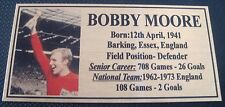 Soccer Bobby Moore picture Gold Sublimated Plaque Postage