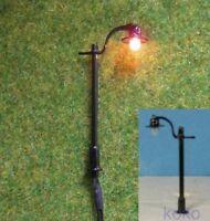 S231 - Set 10 Stück LED Straßenlampen 1-flammig 4cm nostalgisch für 12-19V