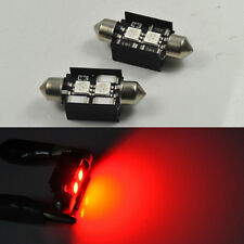 2 No Error Red LED License plate Lights For BMW E46 E90 E92 E39 E53 E60 E71