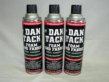 3- 10.2oz Cans Foam&Fabric Spray Glue/Adhesive DAN TACK Model 2012