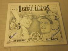 Sam Jethroe & Walt Dropo 1950 ROY's Autographed Lithograph B & E Hologram