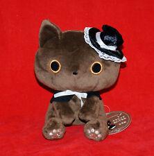 San-X KutusitaNyanko Kutusita Nyanko Plush Doll - Brown Cat with Black Hat