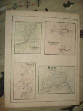 BATH ERNESTOWN TOWNSHIP ONTARIO CANADA ANTIQUE MAP NR