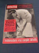 Détective 1962 825 RAISMES FORBACH TIGNES GRAVELOTTE JUAN BELMONTE CAEN