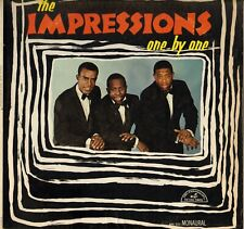 "THE IMPRESSIONS ""ONE BY ONE"" POP SOUL LP ABC PARAMOUNT 90520 CURTIS MAYFIELD!"