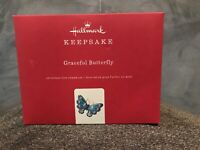 Hallmark Keepsake Ornament 2019 Graceful Butterfly Brilliant Premium Blue NIB