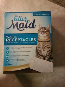 LITTER MAID Waste Receptacles 1st & 2nd Edition 18 COUNT BOX For Cat Litter *NEW