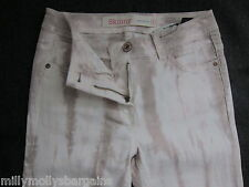 New Womens Beige Skinny NEXT Jeans Size 8 Long LABEL FAULT