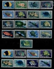 VIRGIN ISLANDS **************************** 1975 AND 1977 MINT FISH SETS