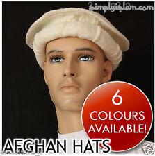 3pcs cream color Handmade afghan pakol pakul wool hat cap topi for men and women