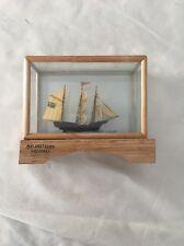 """Malarstaden Vasteras Ship In Glass 4""""tx3.5""""w"""