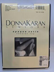 Donna Karan Control Top Pantyhose Medium Palomino Style 270 NOS