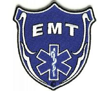 """(D26) EMT SHIELD 3"""" x 3"""" iron on patch (1335) Medical Star of Life"""
