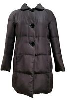 PRADA BLACK DOWN SILK JACKET WITH BACK BUTTON DETAIL, 42, $1650