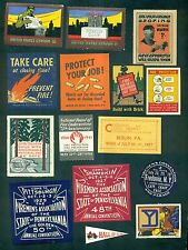 1910-1942 Firefighting & Related Poster Stamps Group