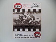 advertising Pubblicità 1977 CASCO HELMET LEM e JOHNNY CECOTTO
