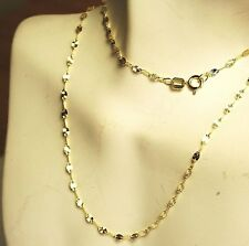 14k solid yellow gold 16'' star link, strong, lightweight, sparkly chain 0.8gram