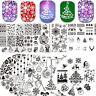 BORN PRETTY Nagel Stamping Schablone Stempel Weihnachten Nail Art Plate Template