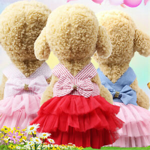 Pet Dog Mesh Lace Dress Princess Tutu Skirt Small Puppy Dog Cat Apparel Clothes