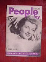PEOPLE TODAY magazine June 20 1951 CORINNE CALVET French vs. U.S. Women