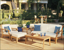 Giva Grade-A Teak Wood 5 pc Large Sofa Lounge Chair Set Outdoor Garden Patio
