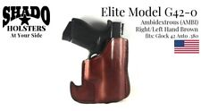 SHADO Leather Holster USA Elite Model G42-0 AMBI Pocket Brown Glock 42 Brand