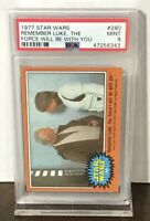 1977 STAR WARS REMEMBER LUKE SKYWALKER, THE FORCE WILL BE WITH YOU PSA 9 #280