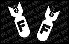 Set of 5 F-Bomb Stickers humor JDM Euro drift funny vinyl car window decal
