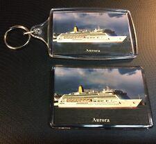 P&O Cruises AURORA Photo Key Ring & Fridge Magnet Set Cruise Ship Ocean Liner