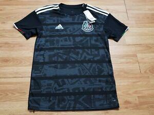 NWT Adidas Size Small Mexico Home National Team Soccer Jersey Black Mens Futbol
