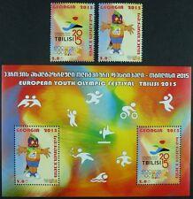 Georgien Georgia 2015 Jugendolympiade Tiflis Sport Olympics 668-69 Block 64 MNH