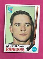 1969-70 TOPPS  # 34 RANGERS ARNIE BROWN EX CARD (INV# A8610)