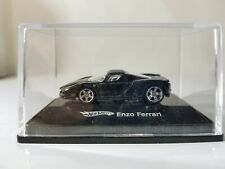 Hot Wheels Enzo Ferrari Black 2007 1:87 Scale HO Scale in Display Case