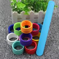 6/912Pcs Rainbow Slap Bracelet Boys Kids Slap Bracelets Gift for Children