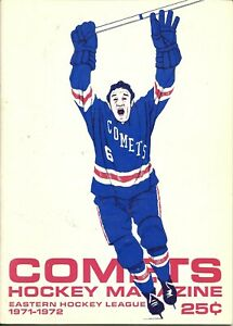 1971-72 Syracuse @ Clinton Comets Eastern Hockey League EHL Hockey Program