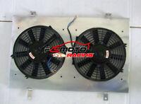 Aluminum Radiator Shroud & Fans For NISSAN SKYLINE R33 R34 RB25DET GTS-T AT/MT