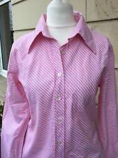 BENETTON Bluse rosa/weiß Streifen klassisch Baumwolle Größe S neuwertig