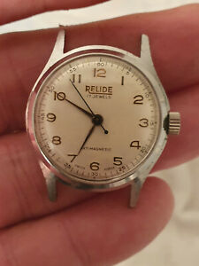 """MEN/S VINTAGE """"RELIDE"""" MILITARY WATCH. SWISS MADE. 17 JEWELS. MINT LOOKING."""