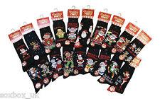 6 Pares de Calcetines para hombre Novedad De Navidad Negro Talla 6-11 Reino Unido 39-45 EUR XM40