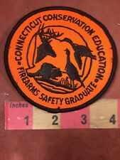 Vtg CONNECTICUT CONSERVATION EDUCATION FIREARMS SAFETY GRADUATE Patch - Gun 00MK