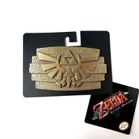 Legend Of Zelda: Twilight Princess Metal Belt Buckle Triforce 2011 Nintendo NEW