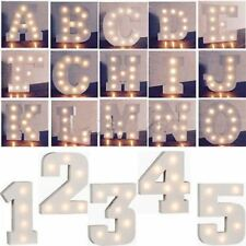 Wooden Alphabet Letters LED Marquee Symbol Lights Wedding Party Plaque