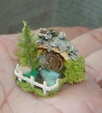 Dollhouse Miniatures Halloween OOAK Little Hobbit House